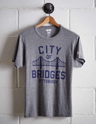 Tailgate Men's Pittsburgh City of Bridges T-Shirt - Free Returns