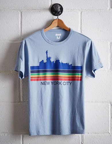 Tailgate Men's NYC Rainbow Skyline T-Shirt - Free Returns