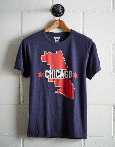 Tailgate Men's Chicago Map T-Shirt - Free Returns