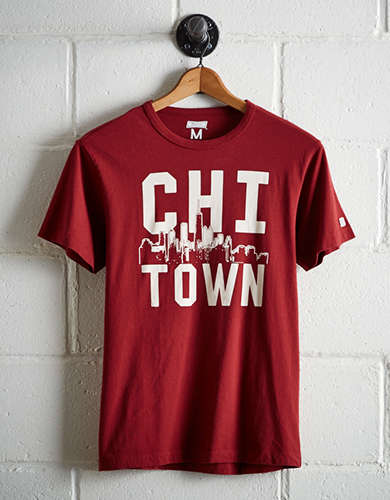 Tailgate Men's Chicago Skyline T-Shirt - Free Shipping + Free Returns