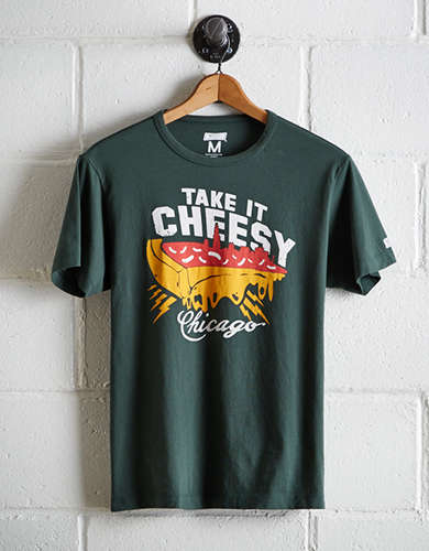 Tailgate Men's Chicago Take It Cheesy T-Shirt - Free Returns