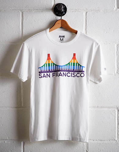 Tailgate Men's San Francisco Rainbow T-Shirt - Free Returns