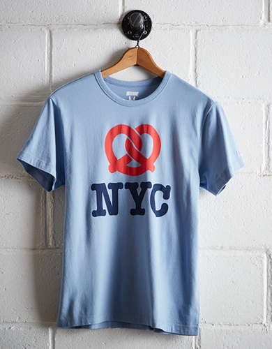 Tailgate Men's Pretzel New York City T-Shirt - Free Returns