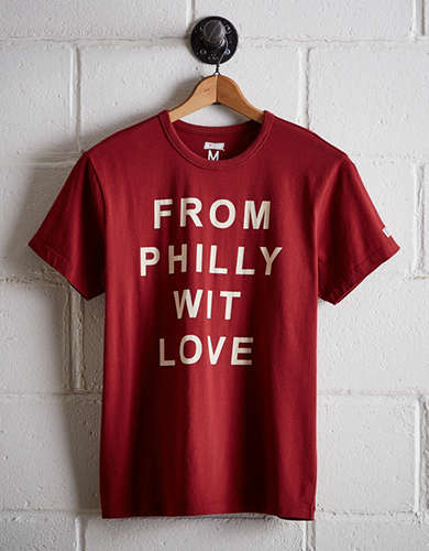 Tailgate Men's From Philly Wit Love T-Shirt - Free Returns