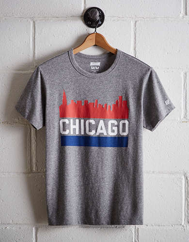 Tailgate Men's Chicago Skyline T-Shirt - Free Returns