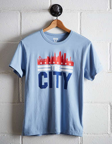 Tailgate Men's San Fransisco The City Skyline T-Shirt -