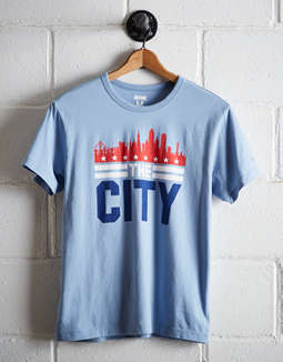 Tailgate Men's San Fransisco The City Skyline T-Shirt
