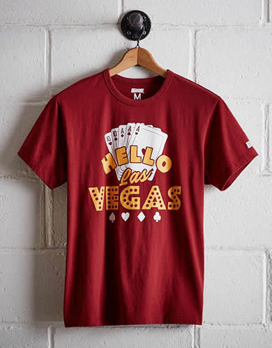 Tailgate Men's Hello Las Vegas T-Shirt - Free Returns