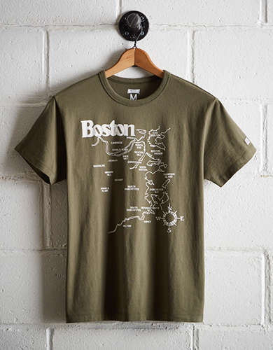 Tailgate Men's Boston Map T-Shirt - Free Returns