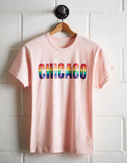 Tailgate Men's Chicago Rainbow T-Shirt
