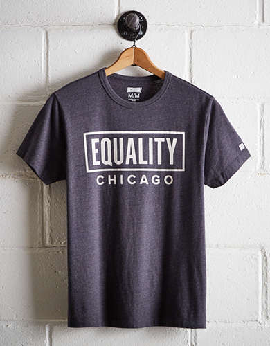 Tailgate Men's Chicago Equality T-Shirt - Free Returns