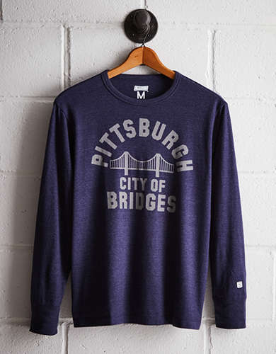 Tailgate Men's City of Bridges Long Sleeve Tee - Free returns