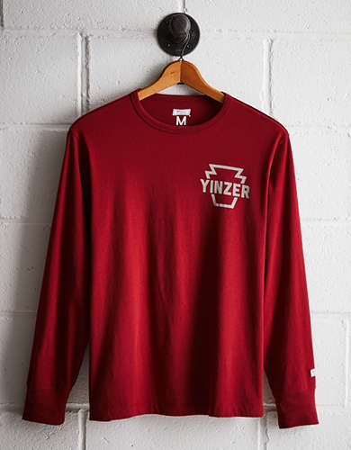 Tailgate Men's Yinzer Keystone Long Sleeve Tee - Free returns