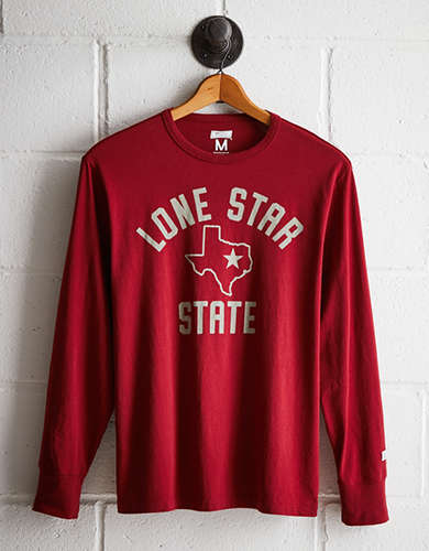 Tailgate Men's Lone Star State Long Sleeve Tee - Free returns