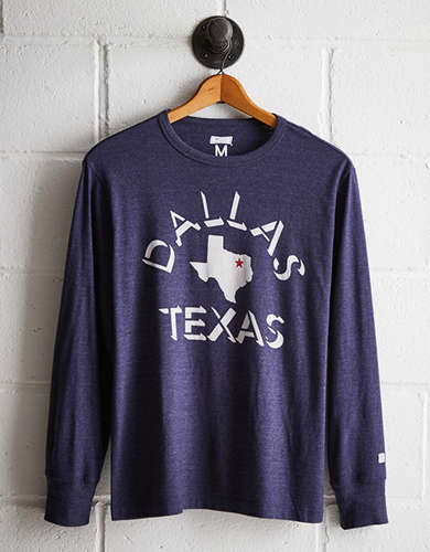 Tailgate Men's Dallas Long Sleeve Tee - Free Returns