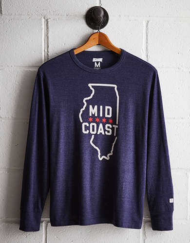 Tailgate Men's Chicago Long Sleeve Tee - Free returns