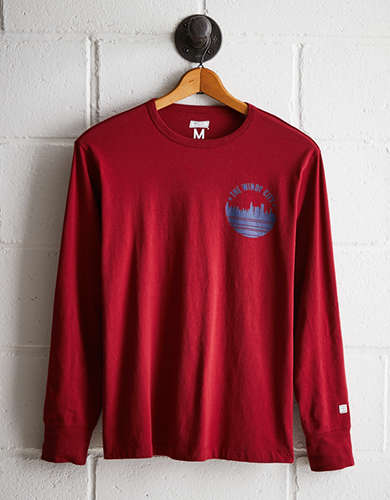 Tailgate Men's Windy City Long Sleeve Tee - Free returns
