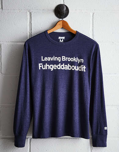 Tailgate Men's Leaving Brooklyn Long Sleeve Tee - Free Returns