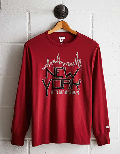 Tailgate Men's New York Long Sleeve Tee - Free Returns