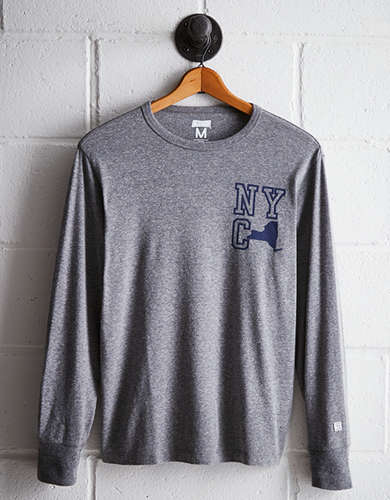 Tailgate Men's NYC Long Sleeve Tee - Free Returns