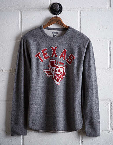 Tailgate Men's Texas Real BBQ Thermal Shirt - Free Returns