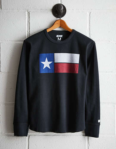 Tailgate Men's Dallas Texas Flag Thermal Shirt -