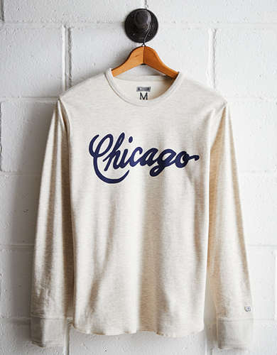 Tailgate Men's Chicago Script Thermal Shirt - Free returns