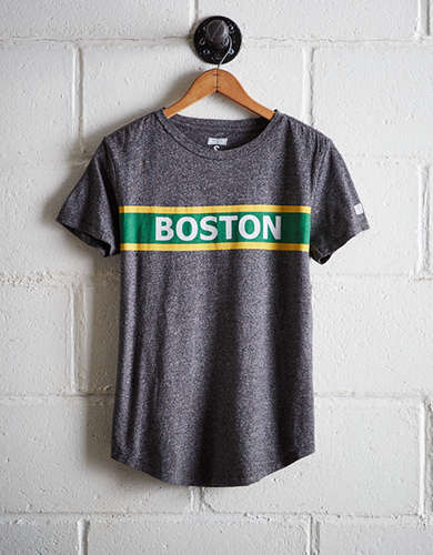 Tailgate Women's Boston Chest Stripe T-Shirt - Free Returns