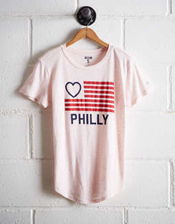Tailgate Women's Philly Flag T-Shirt