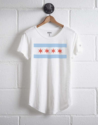 Tailgate Women's Chicago Flag T-Shirt -