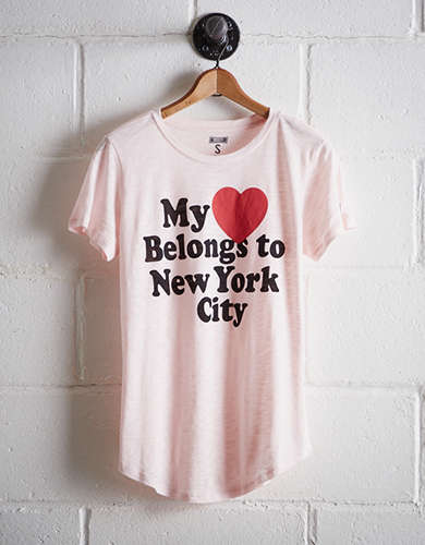 Tailgate Women's My Heart Belongs to NYC T-Shirt - Free Returns