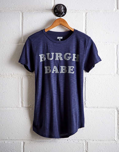 Tailgate Women's Pittsburgh Burgh Babe T-Shirt - Buy 2 Tops Get 1 Free