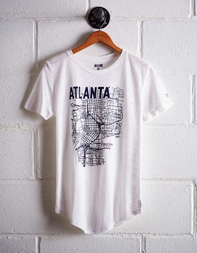 Tailgate Women's Atlanta Map T-Shirt - Buy 2 Tops Get 1 Free
