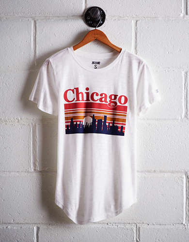 Tailgate Women's Chicago Sunset T-Shirt - Buy 2 Tops Get 1 Free