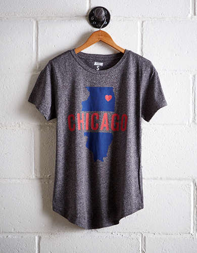 Tailgate Women's Chicago Illinois T-Shirt - Buy 2 Tops Get 1 Free