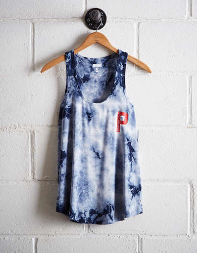 Tailgate Women's Pittsburgh Tie-Dye Scoop Neck Tank - Free Returns
