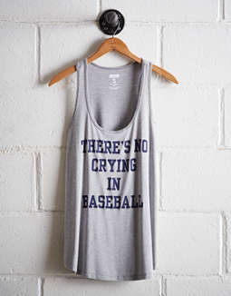 Tailgate Women's No Crying In Baseball Scoop Neck Tank