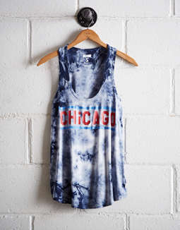 Tailgate Women's Chicago Tie-Dye Scoop Neck Tank