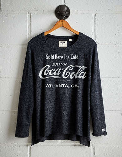 Tailgate Women's Atlanta Coca Cola Plush Tee - Free Returns