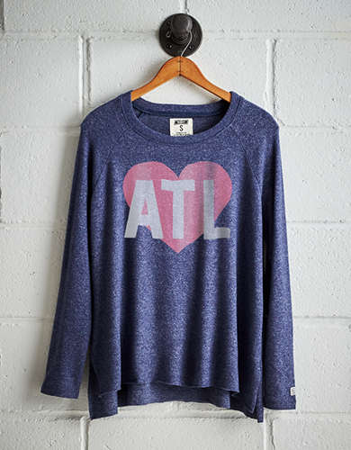 Tailgate Women's ATL Heart Plush Tee - Free Returns