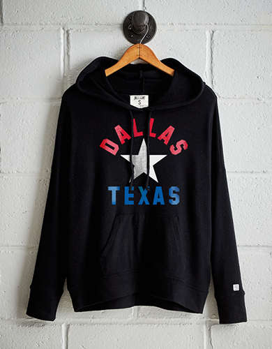 Tailgate Women's Dallas Texas Plush Hoodie -