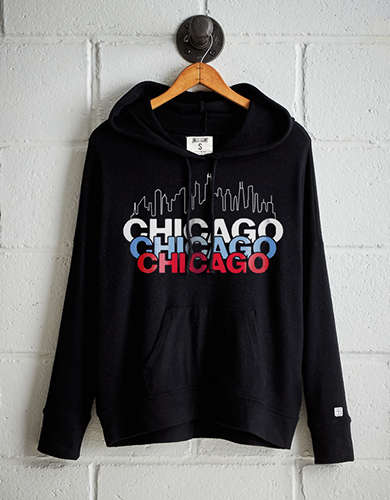 Tailgate Women's Chicago Skyline Plush Hoodie - Free Returns