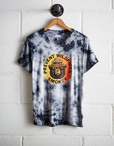 Tailgate Women's Smokey The Bear Tie-Dye T-Shirt - Free Returns