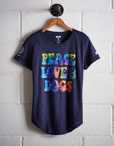 Tailgate Women's Peace, Love & Dogs T-Shirt - Free Returns