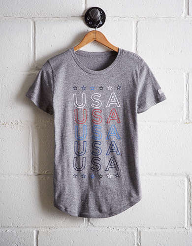 Tailgate Women's USA T-Shirt - Free Returns
