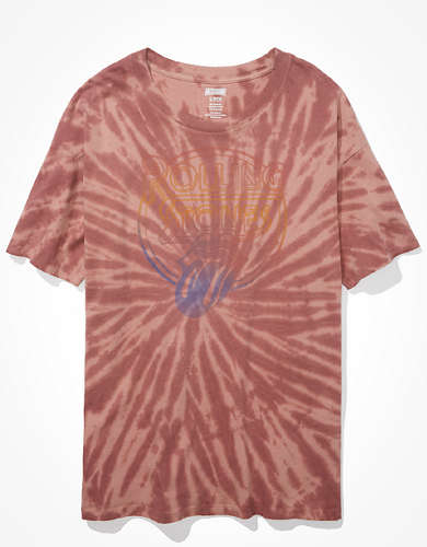 Tailgate for Surfrider Women's Rolling Stones Oversized Tie-Dye T-Shirt