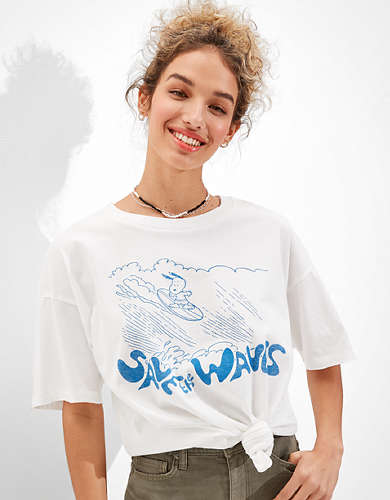 Tailgate for Surfrider Women's Snoopy Graphic T-Shirt