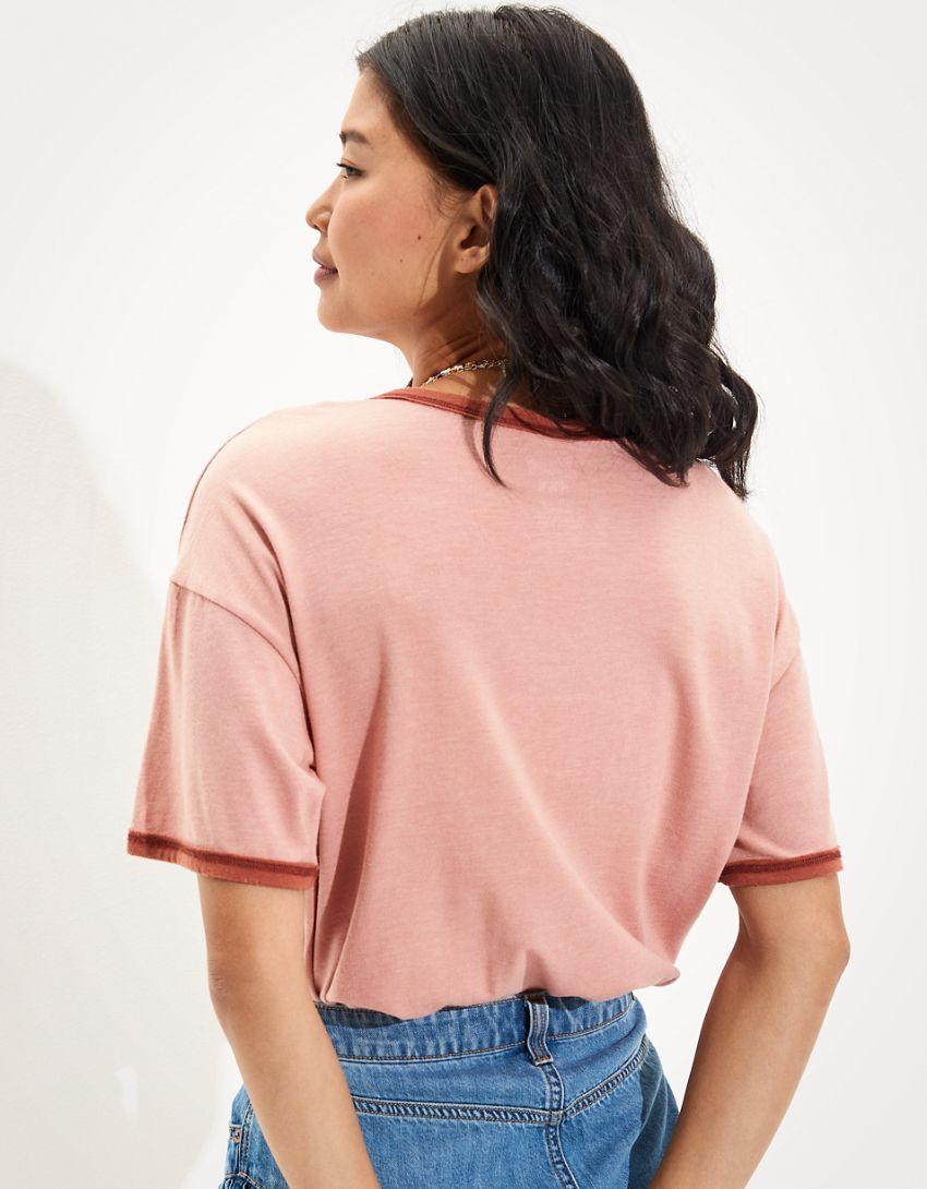 Tailgate Women's Grateful Dead Oversized Ringer T-Shirt