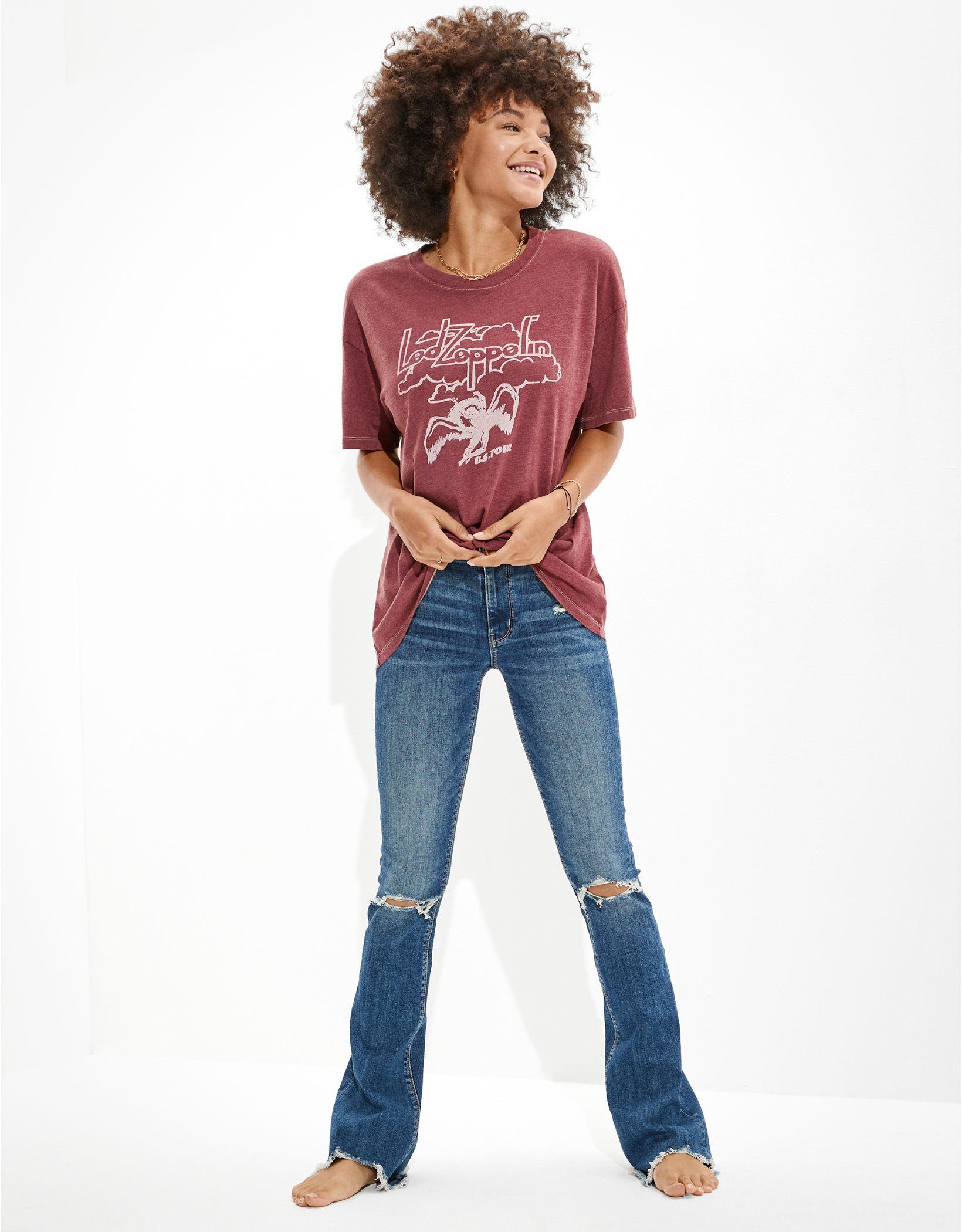 AE Oversized Led Zeppelin Graphic T-Shirt