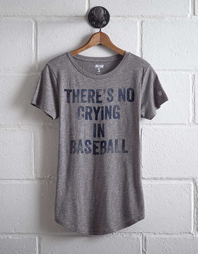 Tailgate Women's No Crying In Baseball Graphic Tee - Free Returns